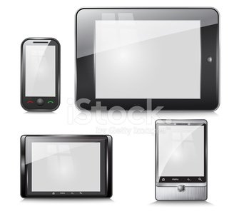 set of electronic devices, tablet and mobile phone