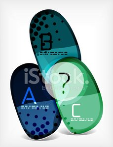 Abstract option infographic - glass round shapes