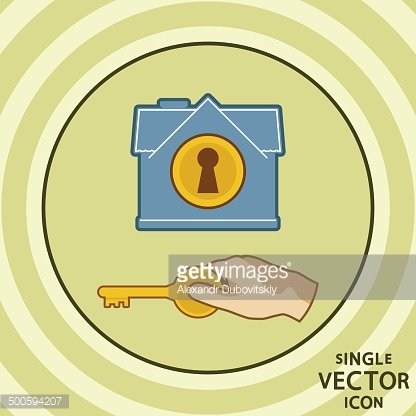 Single vector color flat icon. Home security.