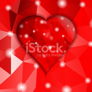 Valentines day.Modern abstract with red hearts.