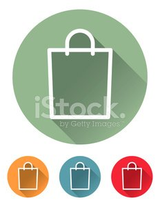 Superlight Flat Design Interface Shopping Bag Icon