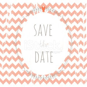 Sweet grunge save the date card with a wreath