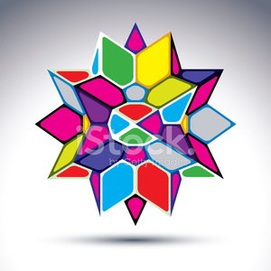 Rich 3d abstract psychedelic geometric figure