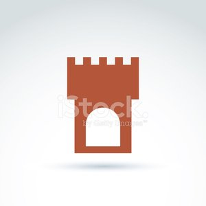 Vector illustration of tower, historical monument symbol