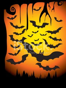 Silhouette Vector set of 20 bat. Vector illustration.
