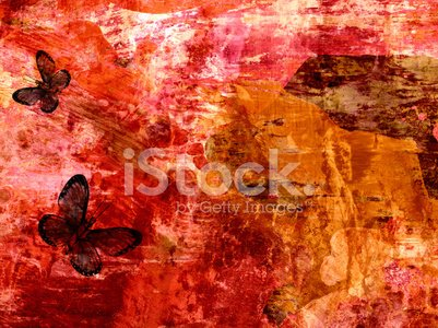 Grunge abstract textured mixed media collage, art background or