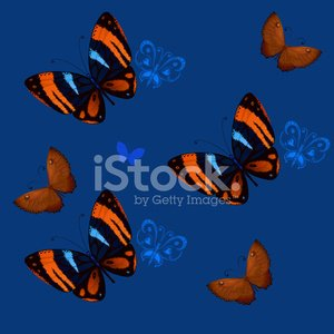 background seamless of colorful butterflies flying