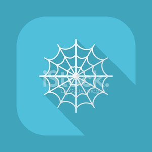 Flat modern design with shadow vector icons: halloween spider we