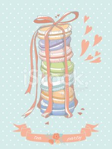 Colorful illustration of a stack of macaroons