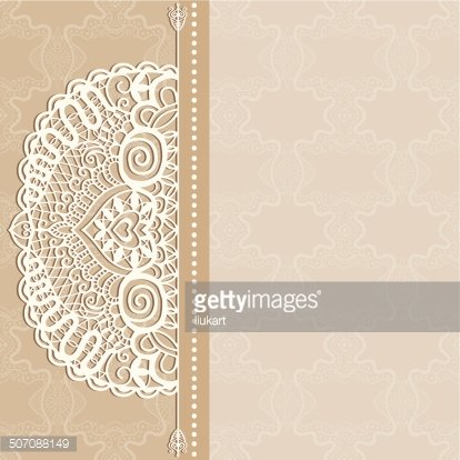 Abstract Background Lacy Frame Border Pattern Wedding