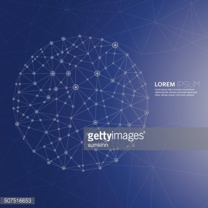 Abstract Background with transparent Mesh and glowing lines