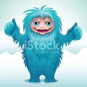 Horrible Monster Yeti premium clipart - ClipartLogo com