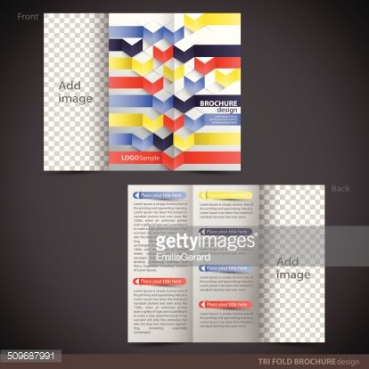 tri folder brochure leaflet mock up premium clipart clipartlogo com