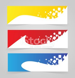 Colorful banner template set vector