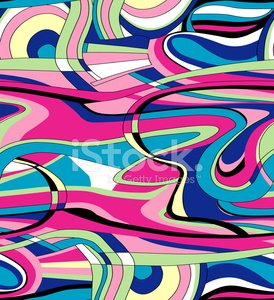 Seamless Modern Art Swirls Repeat / Wallpaper Pattern