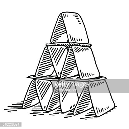 House Of Cards Drawing Premium Clipart