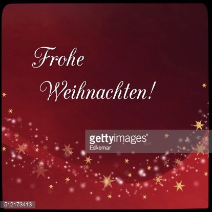 Merry Christmas in german Clipart Image