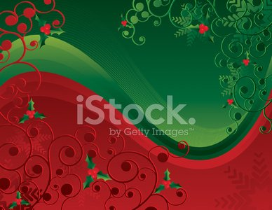 Christmas Background - Red & Green