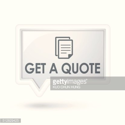 get a quote with document icon over speech bubble