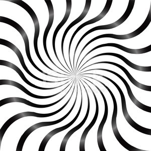 Black and White Abstract Psychedelic Art Background. Vector Illu