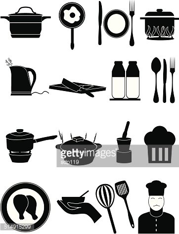 Kitchen Cooking Icons Set Clipart Image