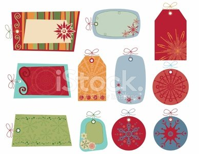 Retro Snowflake Gift Tags Collection 2