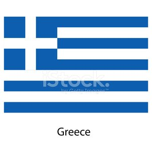 Flag of the country greece. Vector illustration.