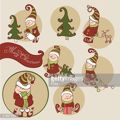 Christmas Gnomes Clipart.Vector Set Of Christmas Gnome Clipart Image 1 566 198