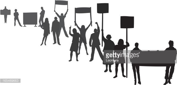 Protestors (Each Person is Complete and Moveable)