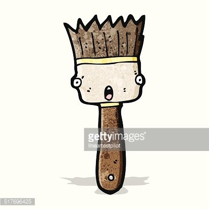 Paint Brush Cartoon Premium Clipart Clipartlogocom