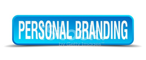 personal branding blue 3d realistic square isolated button