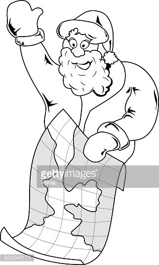 Santa Claus with map