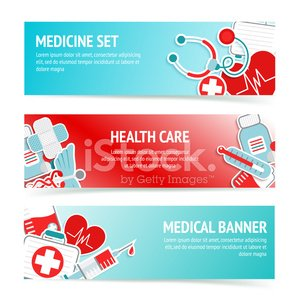 Medical Health Care Banners Clipart Image
