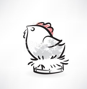 Cartoon-Huhn-Symbol