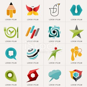 Logo and Abstract web Icon vector set