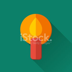 Simple candle icon in flat style