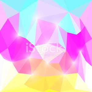 Bright colored abstract polygonal triangular background with lig