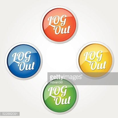 Log Out Colorful Vector Icon Design