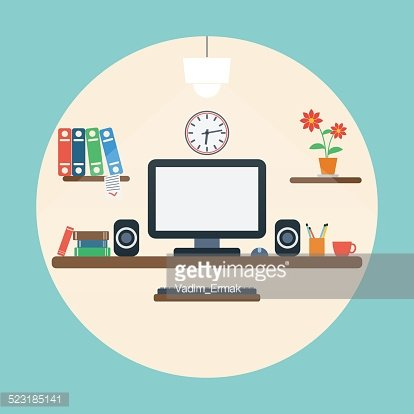 Home workplace concept
