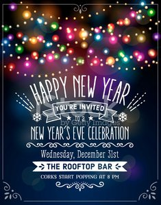 New Year's Eve Party Invitation with Text