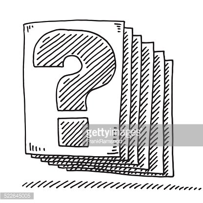Question Mark Document Paper Drawing Premium Clipart