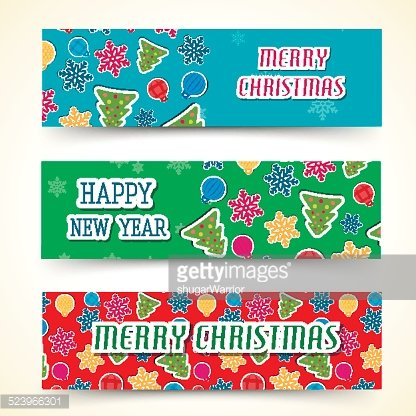 merry christmas and happy new year background cards concepts
