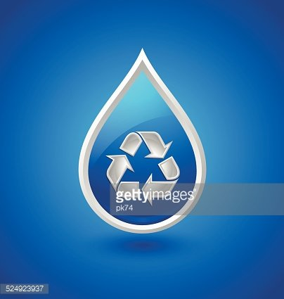 Recycled water drop icon