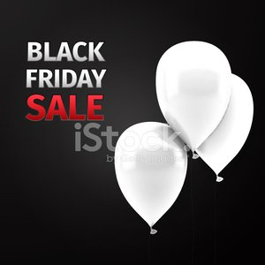 Black Friday Sale Icon with Balloons