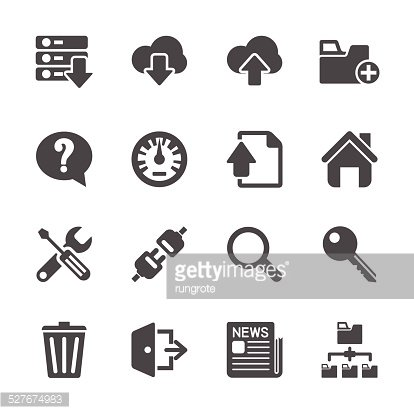 hosting and FTP icon set, vector eps10