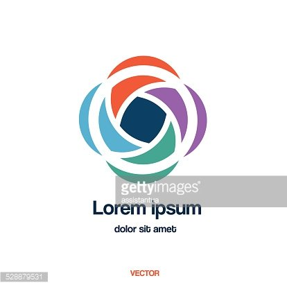Abstract creative vector logo template