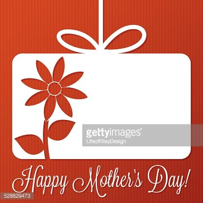 Flower cut out tag card in vector format.