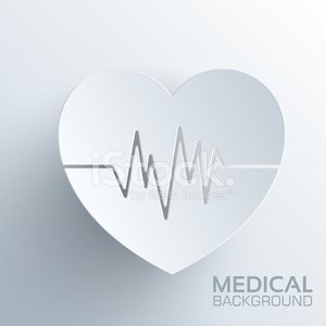 Polygonal medical heart vector background concept.