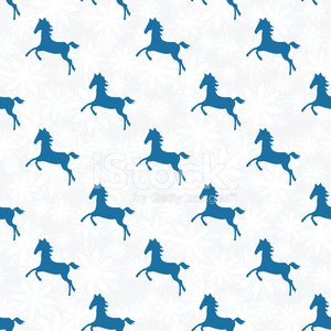 Horse silhouette seamless pattern.