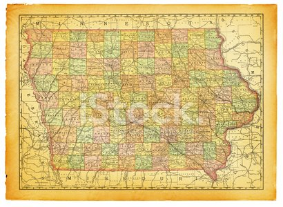 Old Iowa Map.Iowa Old Map Premium Clipart Clipartlogo Com